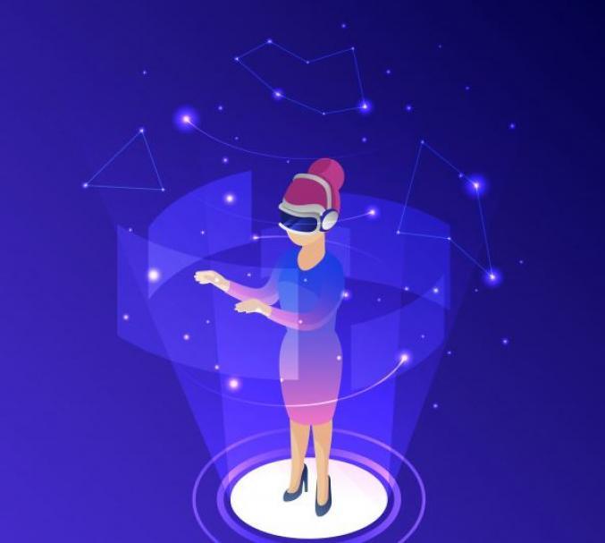 VR Frau